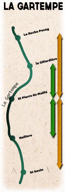 Location de canoë sur la Gartempe
