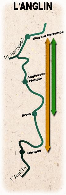 Location de canoë sur l'Anglin