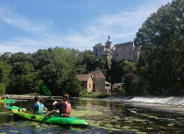 Canoë sur la Gartempe à proximité de Poitiers