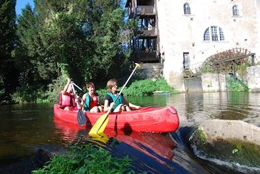 Location de canoë à Poitiers et dans la Vienne (86) en famille